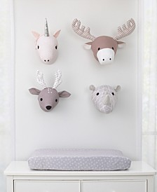 Plush Animal Head Wall Decor