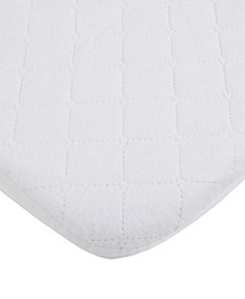 Water Resistant Quilted Mini Crib Fitted Mattress Pad