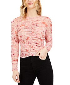 Floral-Print Ruched Top, Created for Macy's