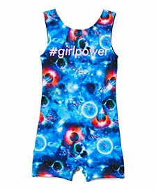 Little Girls Stella Space Cat Biketard One Piece