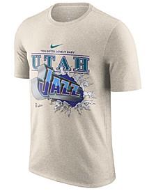 Men's Utah Jazz Hardwood Classic Slogan T-Shirt