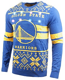Men's Golden State Warriors Two Stripe Big Logo Light Up Sweater