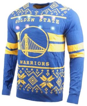 Men's Golden State Warriors Two Stripe Big Logo Light Up Sweater