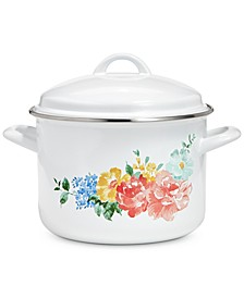 Garden Party 6-Qt. Enamel on Steel Floral Dutch Oven, Created for Macy's