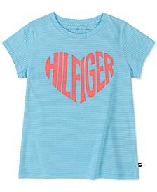 Big Girls Cotton Logo Heart T-Shirt