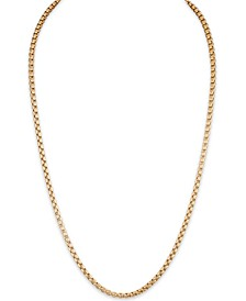 "Men's 22"" Box Chain (3.5mm) in 14k Gold Over Sterling Silver"
