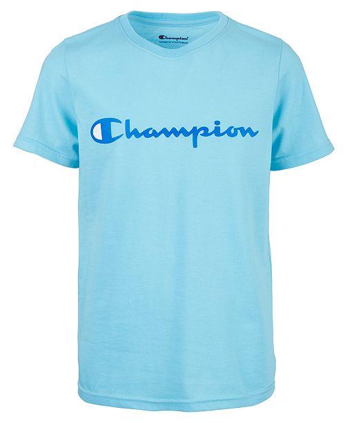 Champion Big Boys Logo-Print T-Shirt