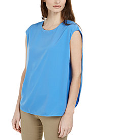 Alfani Inverted Petal-Back Top, Created for Macy's
