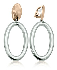 Two-Tone Clip Drop Earring