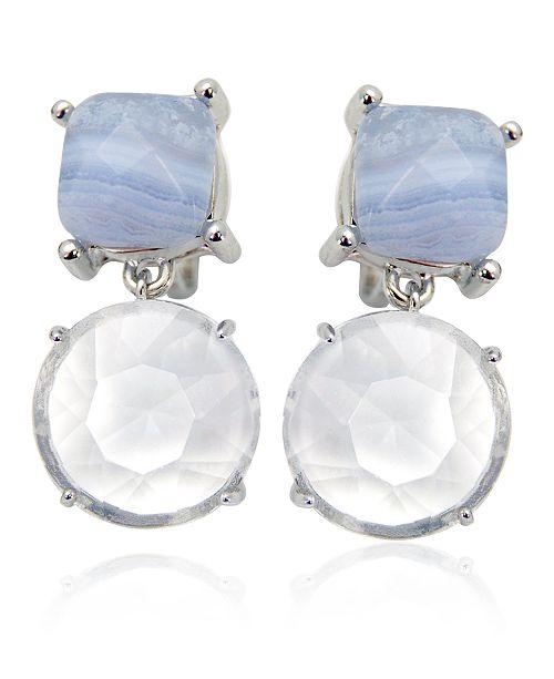 T Tahari Semi-Precious Clip Earring