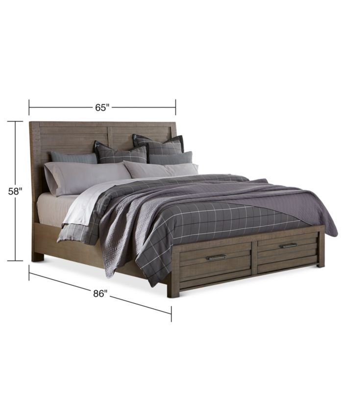 Furniture Ruff Hewn Queen Storage Bed & Reviews - Furniture - Macy's