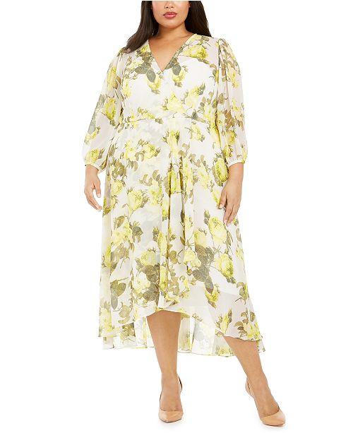 Calvin Klein Plus Size Printed Midi Dress
