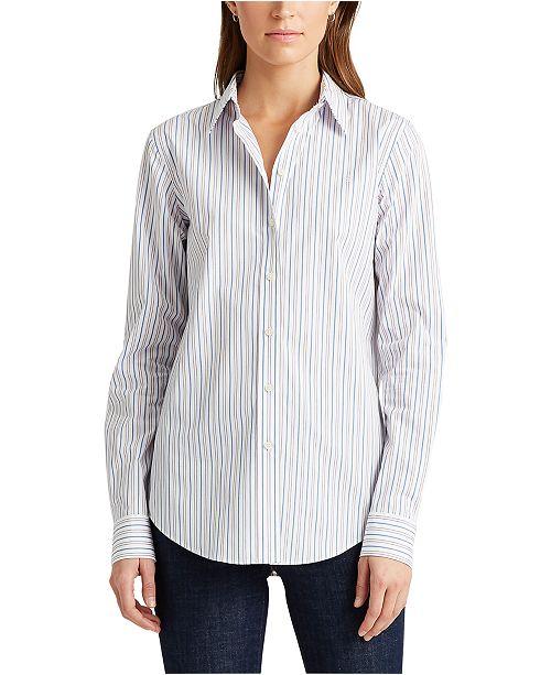 Lauren Ralph Lauren Petite Classic Striped Shirt