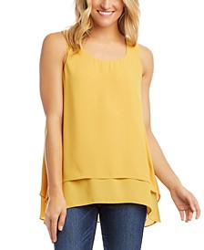 Layered-Hem Tank Top