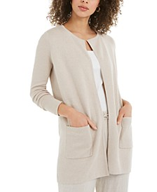Milano Cotton Open-Front Sweater, Created for Macy's