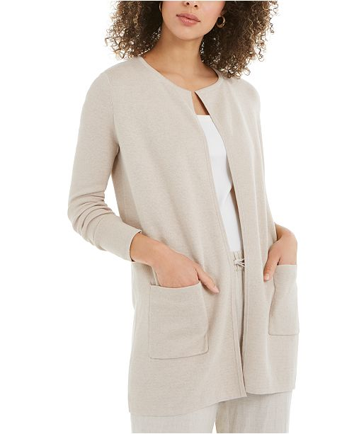 Charter Club Petite Cotton Milano Cardigan, Created For Macy's