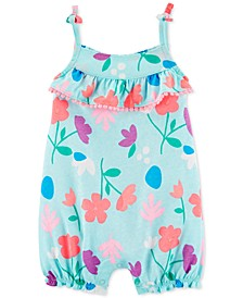 Baby Girls Floral-Print Cotton Romper