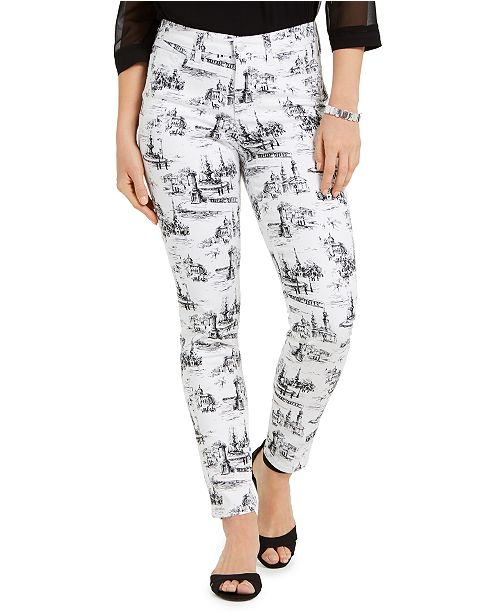 Charter Club Printed Skinny Ankle Jeans, Created for Macy's