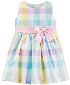 Baby Girls Multi-Color Gingham Sateen Dress