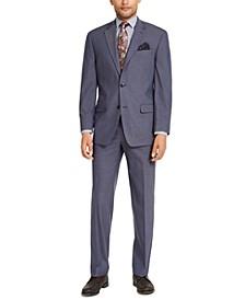 Men's Classic-Fit Blue Solid Suit Separates