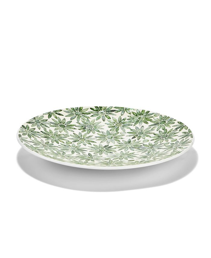 Two's Company - Daisy Mother of Pearl Decorative Platter - MOP/MDF