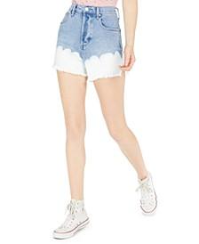 Juniors' High-Rise Bleached Denim Shorts