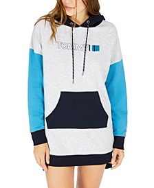 Colorblocked Logo Hoodie Dress