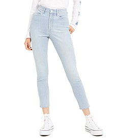 High-Rise Striped Skinny Jeans