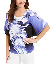 Printed Flutter-Sleeve Top, Created for Macy's