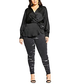 Trendy Plus Size Simple Luxury Top