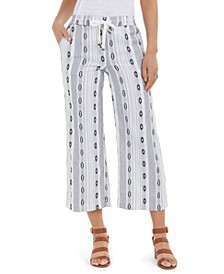 Cropped Jacquard Pants, Created for Macy's