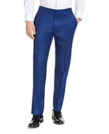Men's Slim-Fit Stretch Blue Tuxedo Pants, Created for Macy's