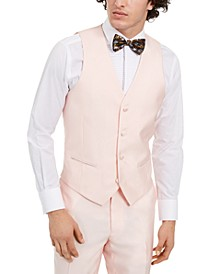 Men's Slim-Fit Stretch Pink Solid Tuxedo Vest, Created for Macy's