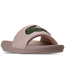 Women's Croco Embroidered Slide Sandals from Finish Line