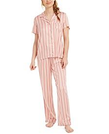Printed Short-Sleeve Pajamas Set