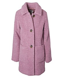 Little Girl Long Teddy Jacket