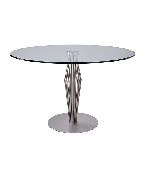 Armen Living Lindsey Glass Dining Table