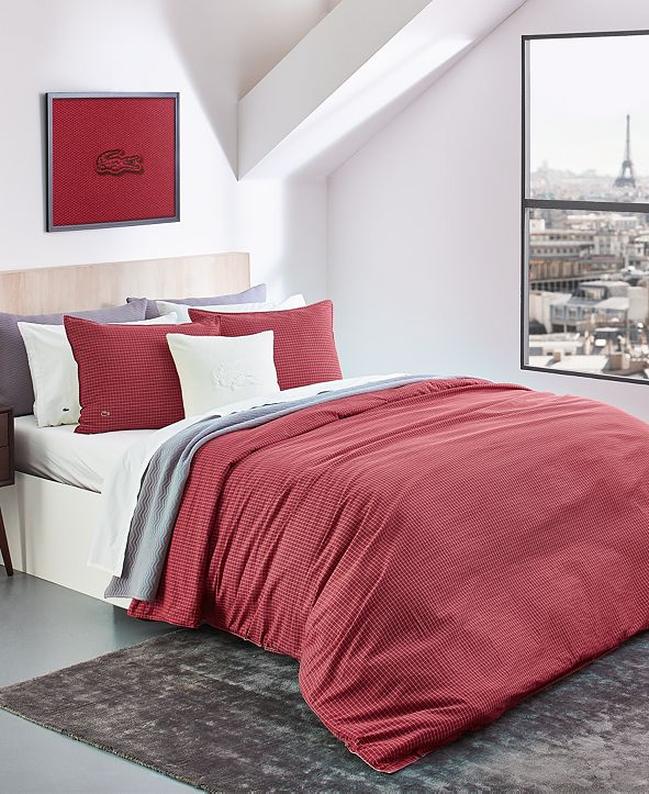 Lacoste Home Lacoste Cross Court King Reversible Comforter Set