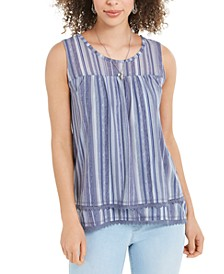Mesh Sleeveless Tank Top, Created for Macy's
