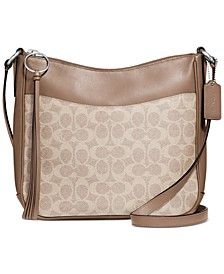 Coated Canvas Signature Chaise Crossbody