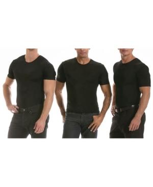 Insta Slim Men's 3 Pack Compression Short Sleeve Crew-Neck T-Shirts