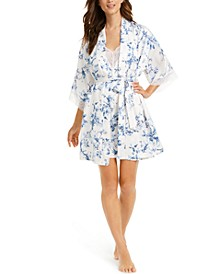 Aviary Floral-Print Robe & Chemise Nightgown Collection