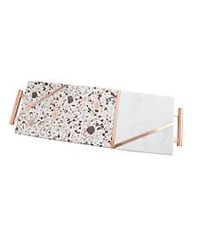Pink Terrazzo & White Marble Serve Board