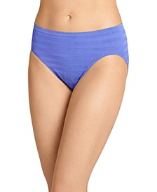 Seamfree Matte and Shine Hi-Cut Underwear 1306, Extended Sizes