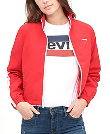 Taslan Mock-Neck Zippered Jacket