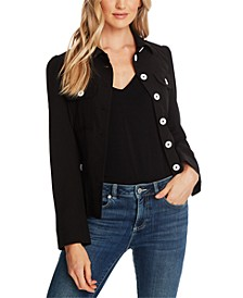 Point-Collar Belted Jacket