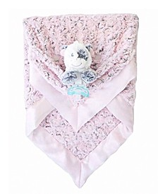 Plush Luxie Pocket Blanket with Pocket and Strap Holder with Razbuddy and Jollypop Pacifier