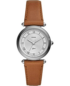 Women's Lyric Brown Leather Strap Watch 32mm