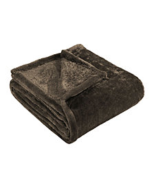 Superior Wrinkle Resistant Plush Fleece Blanket, Throw