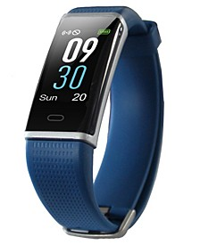 Blue Rubber Band Activity Tracker and Heart Rate Monitor Watch 19mm